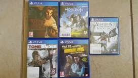 5 x PS4 Games for only R1000