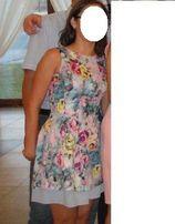 Subtelna kwiatowa sukienka r 36