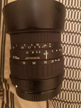 Sigma 24-70mm zoom lens