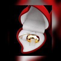 Błyszcząca Klasyczna Złota Obrączka Ślubna