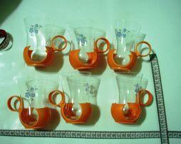 Набор Стаканов с подстаканникам - 6 шт, чай, кофе, горячий шоколад