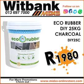 Eco Rubber DIY 25KG Charcoal ONLY R1980 at Midas Witbank!