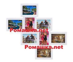 АКЦИЯ -25% Фоторамка мультирамка рамка коллаж из дерева на 8 фото