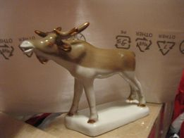 интерьер декор фарфор статуэтка сувенир лось фигурка старая совдеп