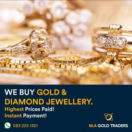 Buyers of gold and diamond jewelry