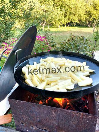 Сковорода 500мм+КРЫШКА,садж,мангал,сковорідка,из диска Каменец-Подольский - изображение 2