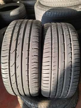 2x Good Used 215/45/R16 Continental Conti Sport Tyres