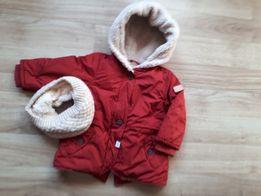r.86 • zara • kurtka zimowa, czerwona z barankiem