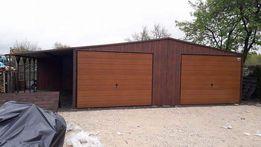 Garaż blaszany 7x5,5 + 2m wiata blaszak blaszaki hala wiata garaże