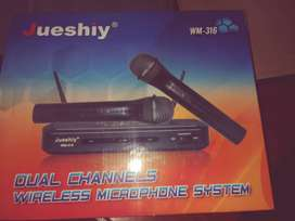 Juesthiy Dual Channel Wireless microphone system