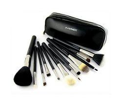Кисти для макияжа 12 шт MAC Cosmetics в чехле Натуральный ВОРС МАК