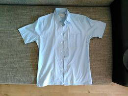 Koszula męska wizytowa Yves Saint Laurent rozmiar M błękitna krótki r.