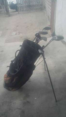 Golf club set with bag and cart
