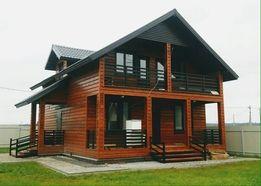 Строительство. Деревянные каркасные Дома От 200 $ за м2 по полу.