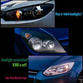 Headlight restoration!! Exceptional results!!