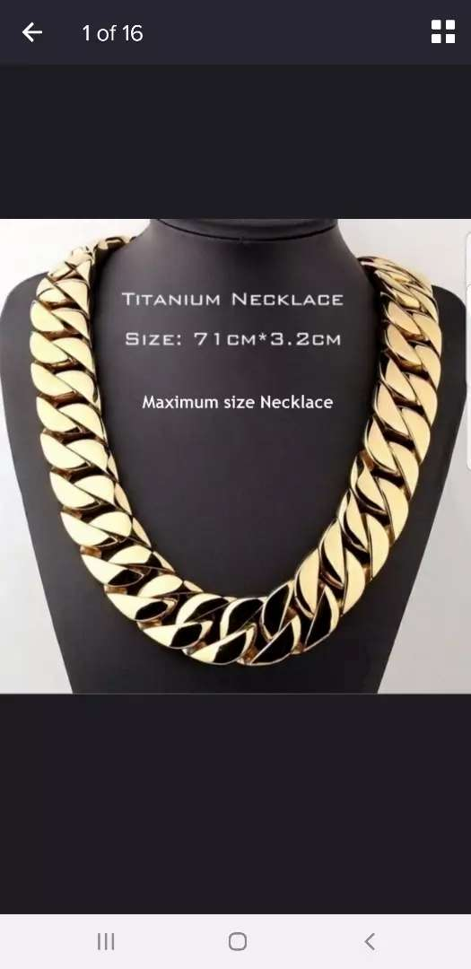 ** 24K Gold Plated Thick Neck Chain