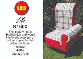 Lili Red & Check Chair