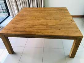 Solid Acacia Dining Table