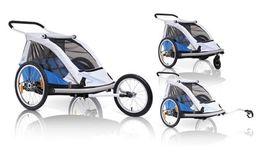 XLC croozer Przyczepka rowerowa dla 2 dzieci DUO 3w1 +wózek+ jogger