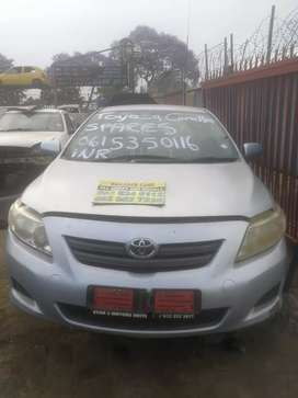 Toyota corolla stripping for spares R100