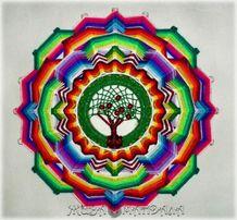 Мандала!Тибетская мандала! Божье Око! Мастер-классы по плетению мандал