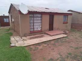 A four room house is available for rent in Sebokeng Zone 7