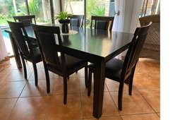 Dining Room Set Dark Stained Wood
