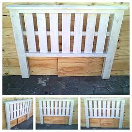 Headboard Farmhouse series Double bed White stained