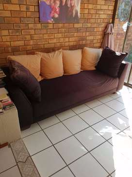 Large 3 Seater Black Couch