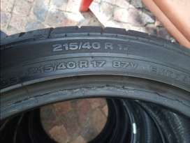 Second hand tyres. 17 inch low profile tyres 215/40R17