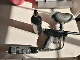 Paint ball gun with Xtra canister valued over 6000