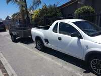 Image of bakkie for hire with driver