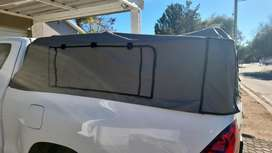 Toyota XC Cattle Rails and Canvas Canopy