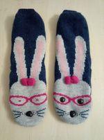 Теплые носки тапочки зайцы 37-39 размер