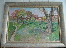 """Картина """"Пейзаж"""" В.Гайдук (1926-1992), к/м, 52х74см. (68х90см.)"""