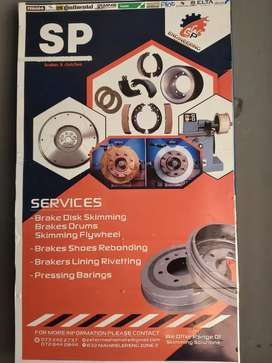 Skimming brakes disks and relining brakes shoes
