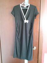 Elegancka sukienka ciążowa, czarna, do biura, na imprezę, L, Haloo