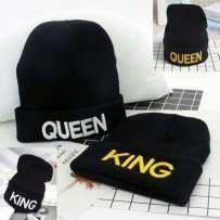 czapki dla zakochanych KING QUEEN