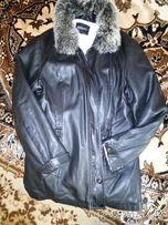 Куртка кожаная женская утепленная