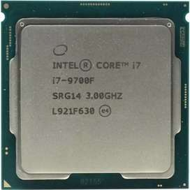 Core i7, 9th generation cpu available