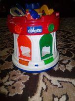 Chicco Музыкальный замок-сортер с ключами, развивающая яркая игрушка