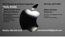 MAC Repairs and Software Upgrades *Only R2600