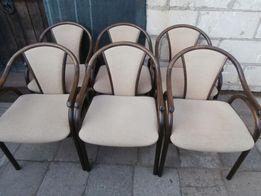 6 krzeseł dębowych z poręczami