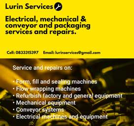 Electrical, mechanical & conveyor and packaging repairs and services
