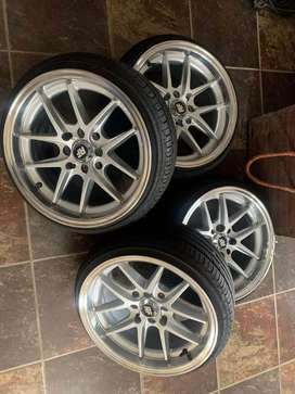 Rotiform rims and tyred