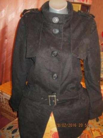 Пальто женское черное 48 14 M фирма oasis шерстяное отличное стильное
