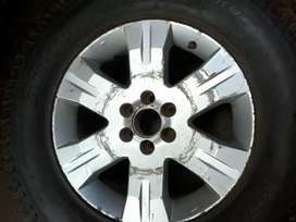 Original 17 inches Nissan Navara spare mag rim with A/T tyre for sell