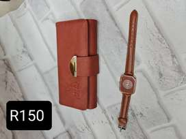 Wallet and watch set