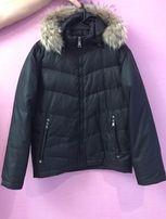 Продаётся мужская куртка-пуховик б/у, р. 44. Капюшон с нат-ым мехом.