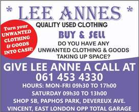 Lee Anne's buy and sell